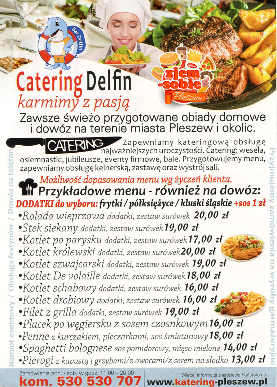 FAST FOOD DELFIN PLESZEW menu 2 zjem-sobie.pl