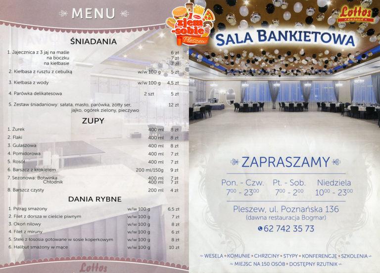 LOTTOS PLESZEW menu 3 zjem-sobie.pl