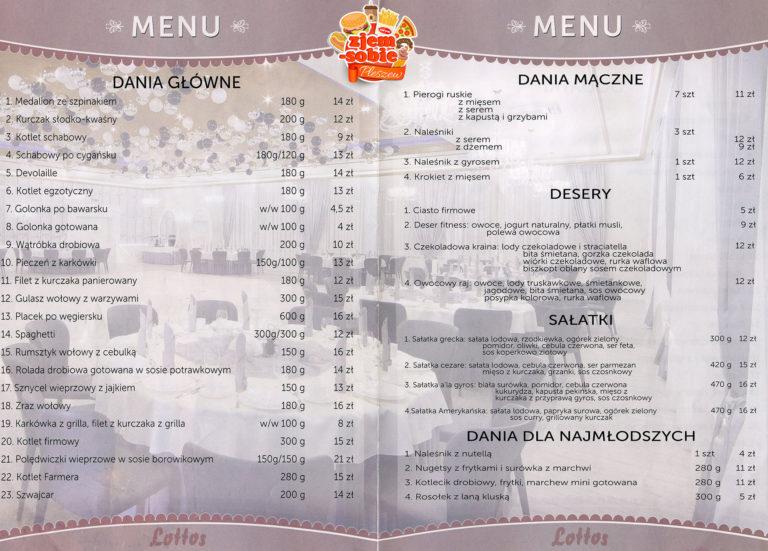 LOTTOS PLESZEW menu 2 zjem-sobie.pl